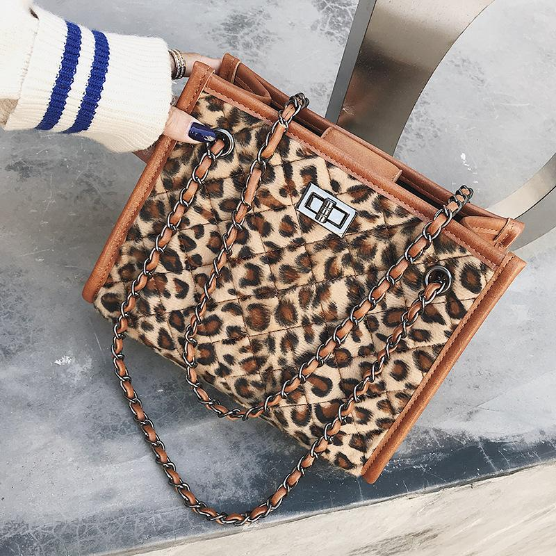 bcce5e196805 FEMALEE Winter Faux Fur Handbag Women Shoulder Bags Purse Leopard Casual  Tote Fashion Handbags Luxury Bag Bolsa Feminina Man Bags Crossbody Purses  From ...