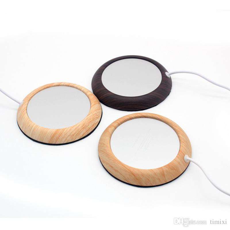 Piastra Desktop tè e caffè bevande tazza della tazza Warmer Pad Mat alluminio USB Coaster Cup Warmer metallo Portable Office Home USB elettrico alimentato