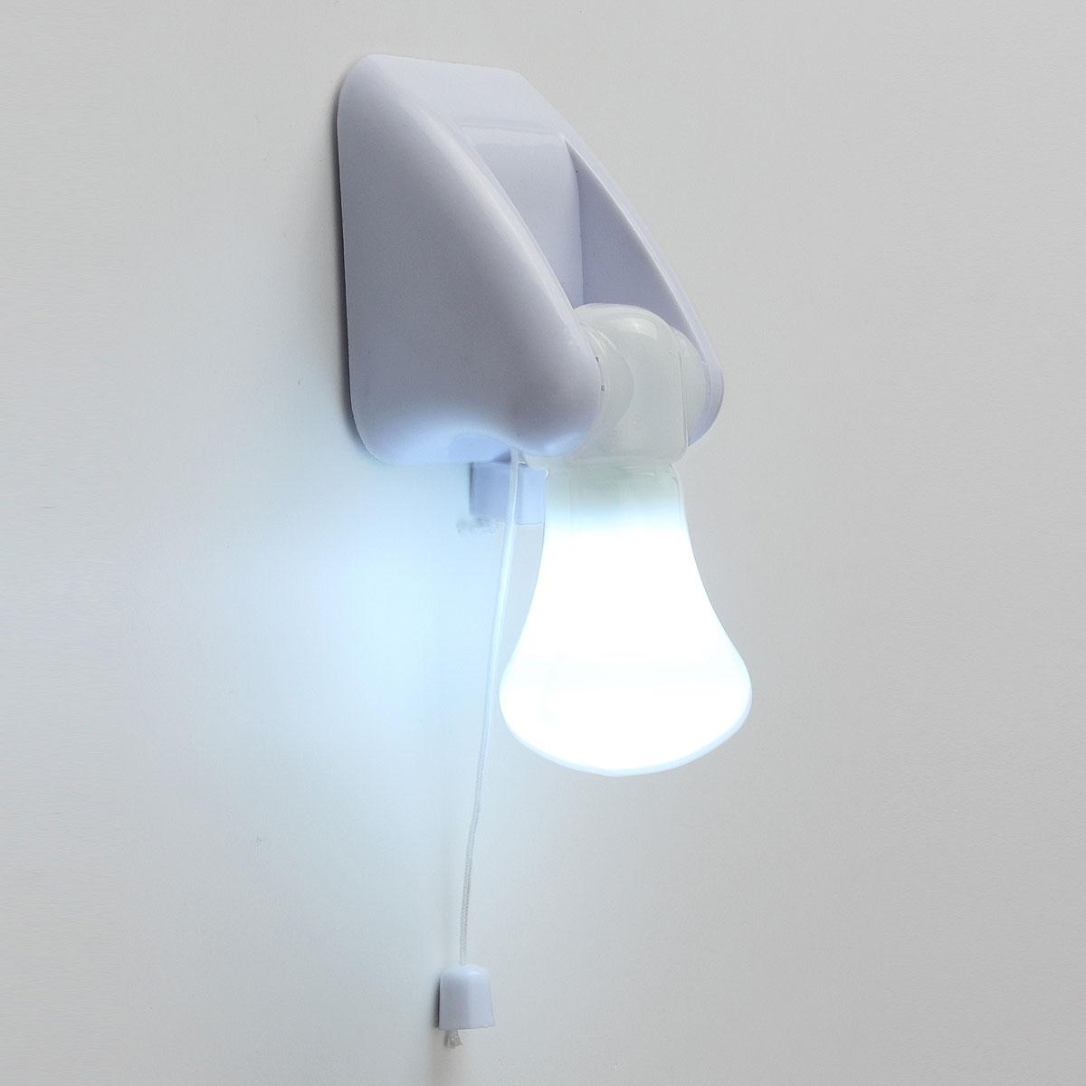 2019 Portable Pull Cord Led Wall Light Bulb Cabinet Closet Lamp Night Battery Operated Self Adhesive Hallway Bedroom Lighting From Dard