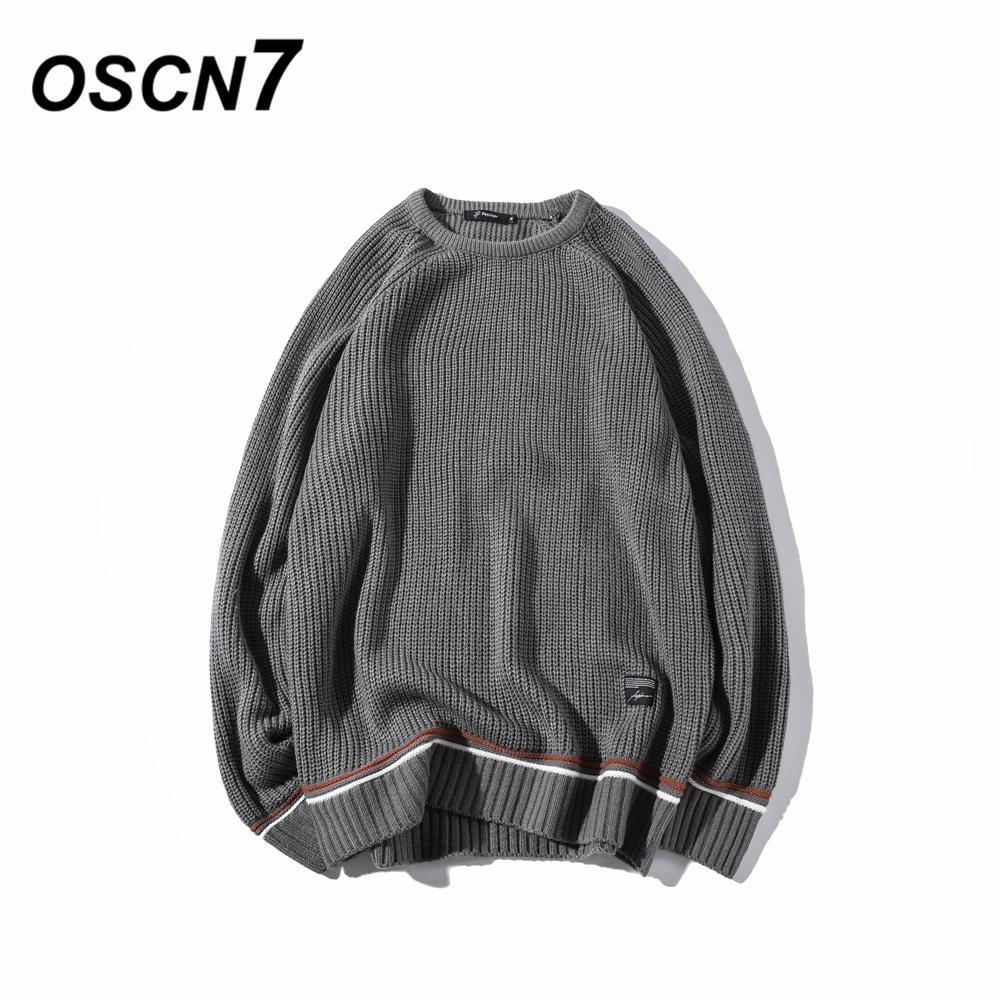 86c9ff4e69a 2018 Oscn7 Round Neck Fashion Sweaters Men Knit Striped 2018 New Autumn  Pullovers Leisure Mens Sweaters S01044 From Bida Amy