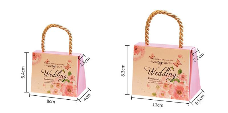 High Class Wedding Favors Gift Boxes 2018 New Arrival Hard Card Paper Made Favor Holders Favour Gift Bag for Candy
