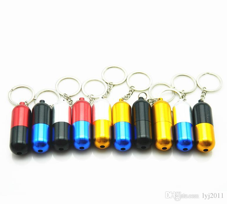 Set da fumo pipa portatile in alluminio multicolor con tubo telescopico in alluminio