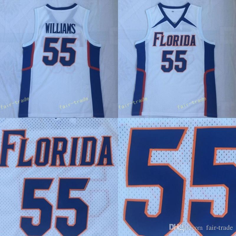 best sneakers 8945c c79f1 Men s JASON WILLIAMS jersey #55 Florida Gators Blue White College  Basketball Jerseys