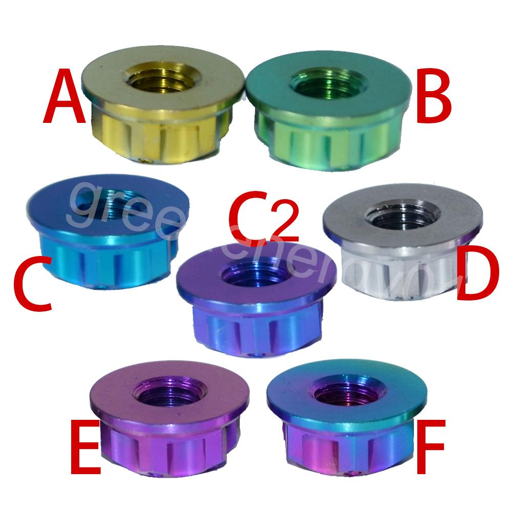 4 écrous Ti écrou M8 écrou à embase titane Torx écrous multicolores et à six pans creux en titane attache Ti