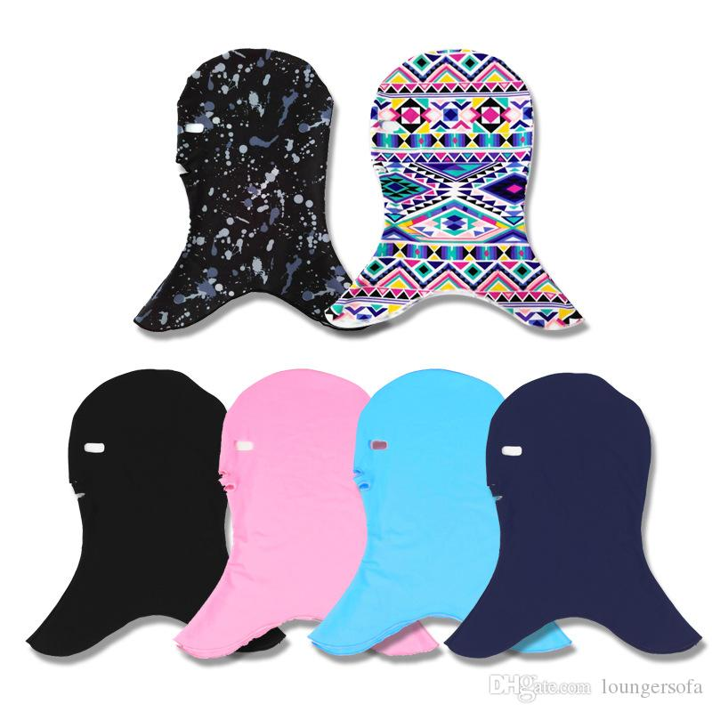 Solid Color Hat Prevent Sunscreen Jellyfish Mask Ultraviolet Swimming Cap Male And Female General Purpose Breathable Comfort 8fc W