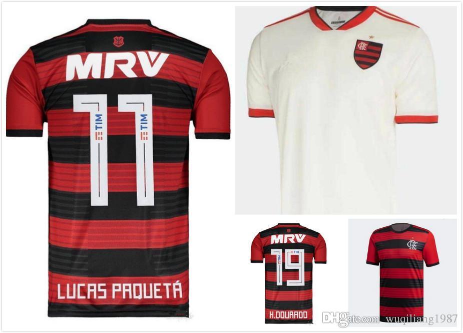 Compre 18 19 Flamengo Jersey 2018 2019 Flamengo GUERRERO DIEGO VINICIUS JR  Camisolas De Futebol EDERSON Camisa De Futebol Em Casa MANCUELLO Camisa De  ... 00e6450b718d3