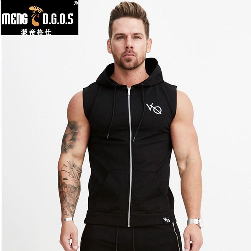 04c8afc970dd 2019 2017 Summer New Sleeveless Hoodies Gyms Fitness Sweatshirt Male Fashion  Cotton Pullover Sportswear Clothing D18100707 From Yizhan01