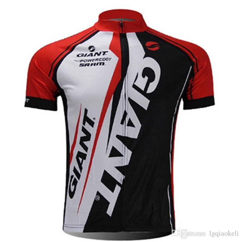 2018 Новое Прибытие команды гигантский велоспорт Джерси мужчины хорошее качество короткие велосипедные рубашки Camisa де Ciclismo C2910