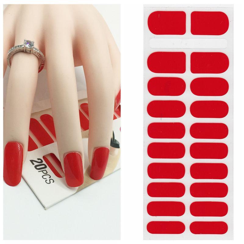 X.T XT Nail Polish Strips Red Waterproof Non Toxic Nail Sticker Art ...