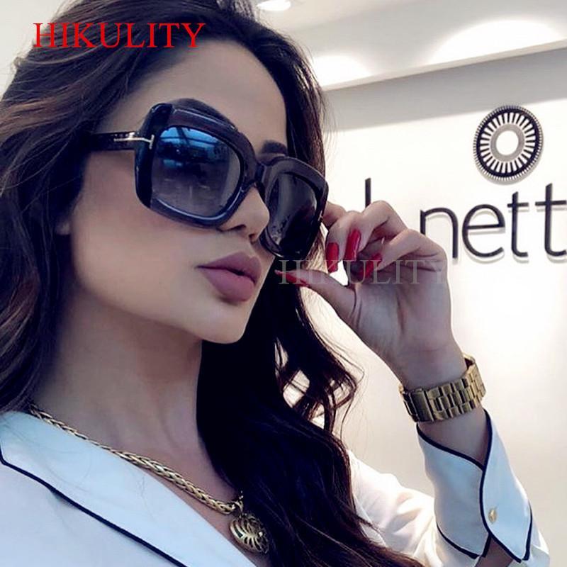 230b0906356b1 Compre Quadrado Oversize Óculos De Sol Das Mulheres Dos Homens 2018 Marca  Plástico Preto Eyewear Feminino Grande Quadro Do Vintage Claro Cinza  Masculino ...