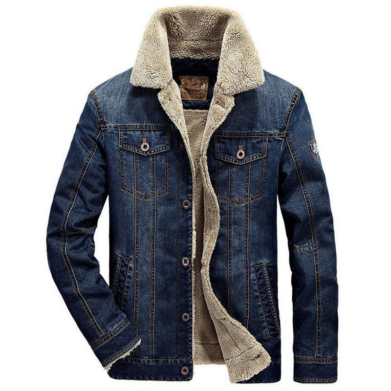 Denim Jacket Men New Autumn Winter Fur Collar Retro Jeans Parka Coat Men  Bomber Jacket Thick Warm Outwear Male Cowboy Jacket 6XL Buy Mens Jackets  Denim ... 986fa83a80