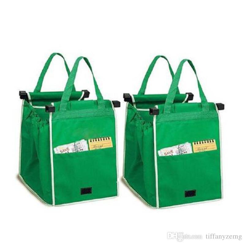 Vendas !! Sacola de Compras Sacola Dobrável Eco-friendly Reutilizável Supermercado Grande Capacidade Sacos