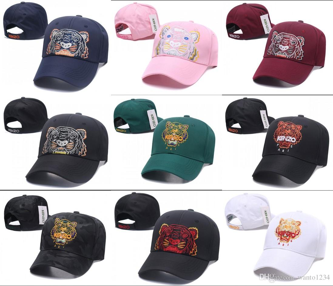 2018 New Style Tiger Embroidery Baseball Caps Luxury Unisex Baseball ... e9ad5ce60c90