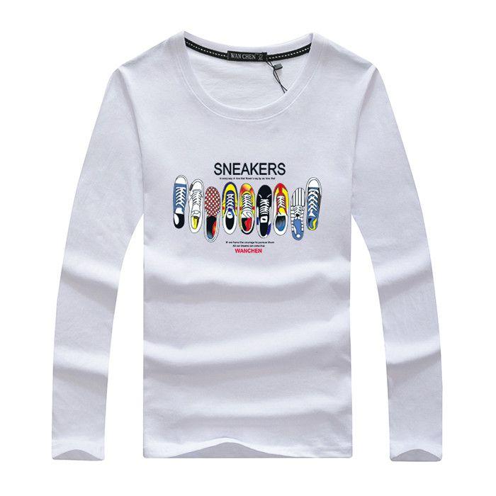 8398a911cbaf Spring Long Sleeve T Shirt Famous Brand Top Designer Men Casual Long Sleeve  T Shirt