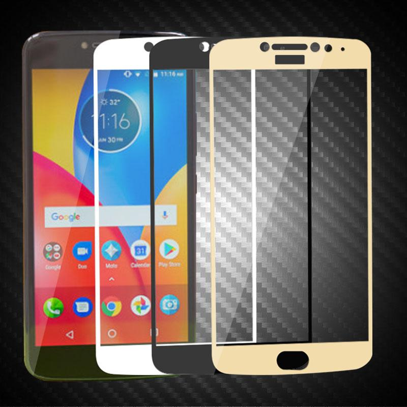 various colors 5129c 2bf30 Full Cover Tempered Glass For Moto E4 Plus Screen Toughened Protector Film  For Moto E4 Plus Protective Glass 9H 2.5D