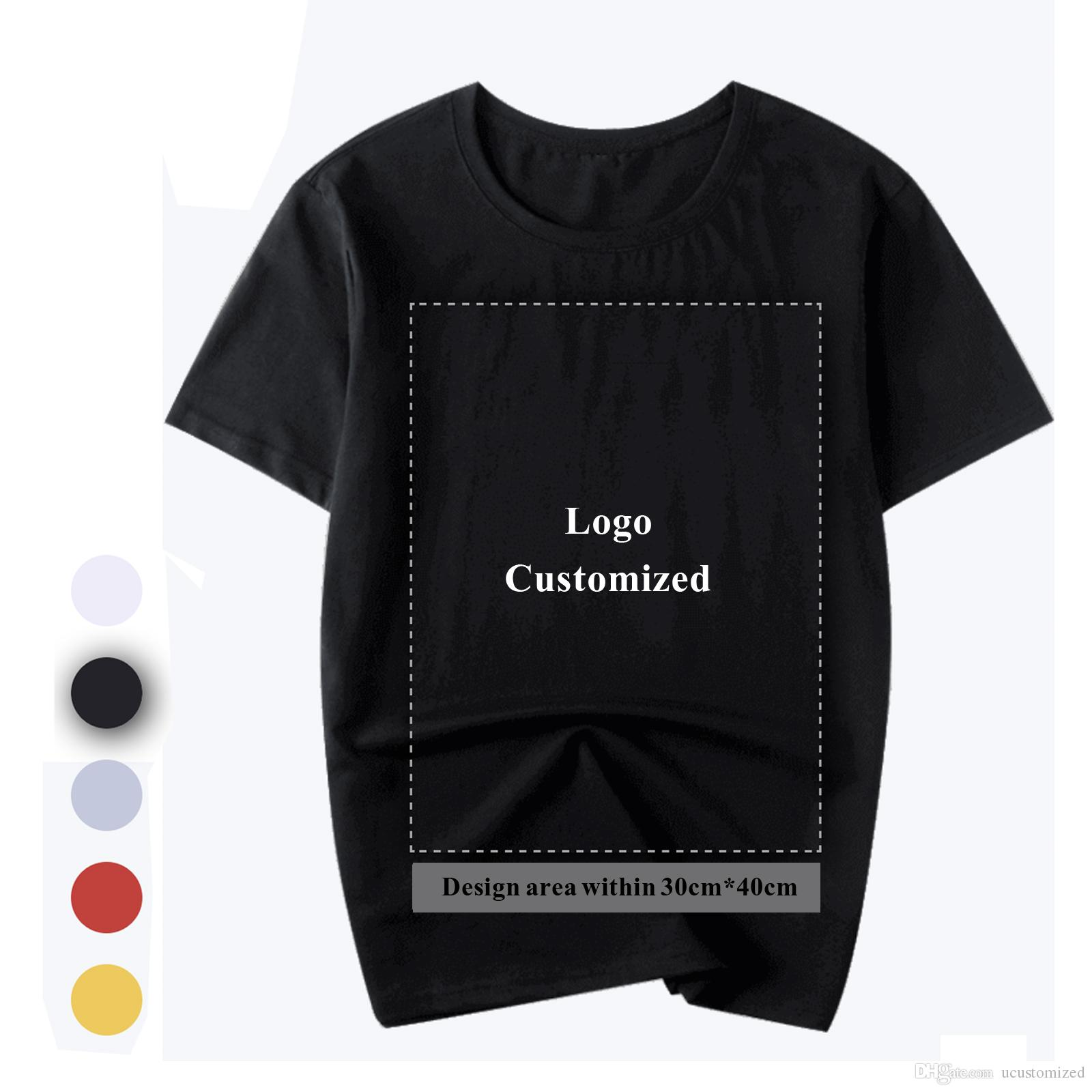 Customize T Shirt Printing Cotton T Shirt Specializes Logo Stamp