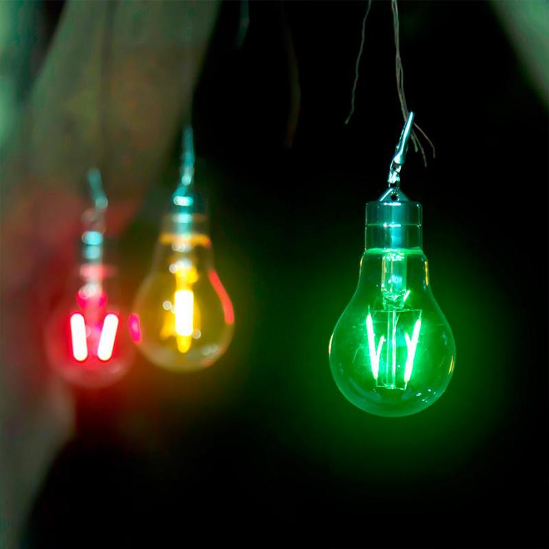 Colorful Battery Powered Led Hanging Lamp Bulb Lawn Lamp For Camping