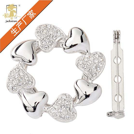 Lovely Korean version of sweet love ring scarf button Brooch TV series with high-end clothing manufacturers direct sale