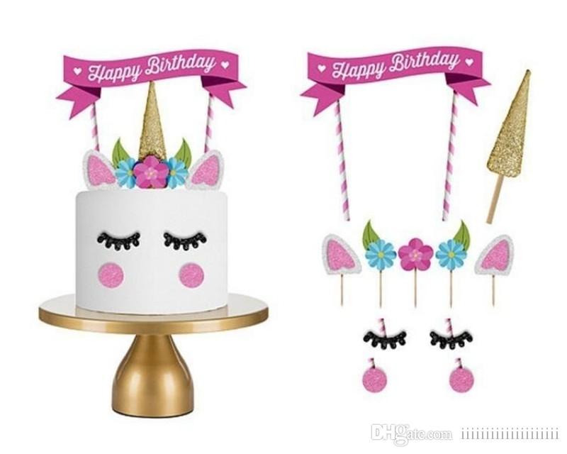 Unicorn Birthday Cake Topper Happy Candle Party Supplies DIY Decor UK 2019 From Iiiiiiiiiiiiiiiiiiii 073