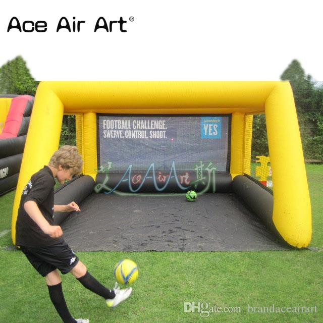 4 x 3m inflatable soccer shooting game, inflatable football target games for children outdoor fun with free blower
