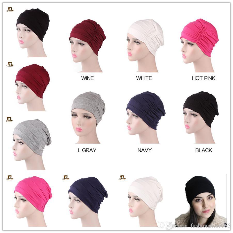 4dd5101287c06 Womens Soft Comfy Chemo Cap And Sleep Turban Hat Cancer Hair Headwear Head  Wrap Ladies Hair Accessories Black Beanie Crochet Beanie From  Fashionstore666