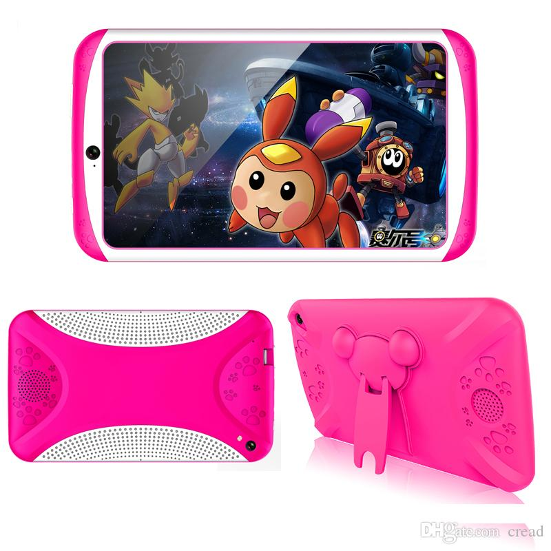 2018 new 7 Inch Children Tablet PC Education Android4 4 Quad-core 8GB  Design Learning WiFi Bluetooth Tablet PC Flash