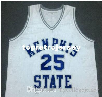 free shipping #25 PENNY HARDAWAY JERSEYS blue,White or customize Any number Men's Stitched high quality embroidery Jerseys