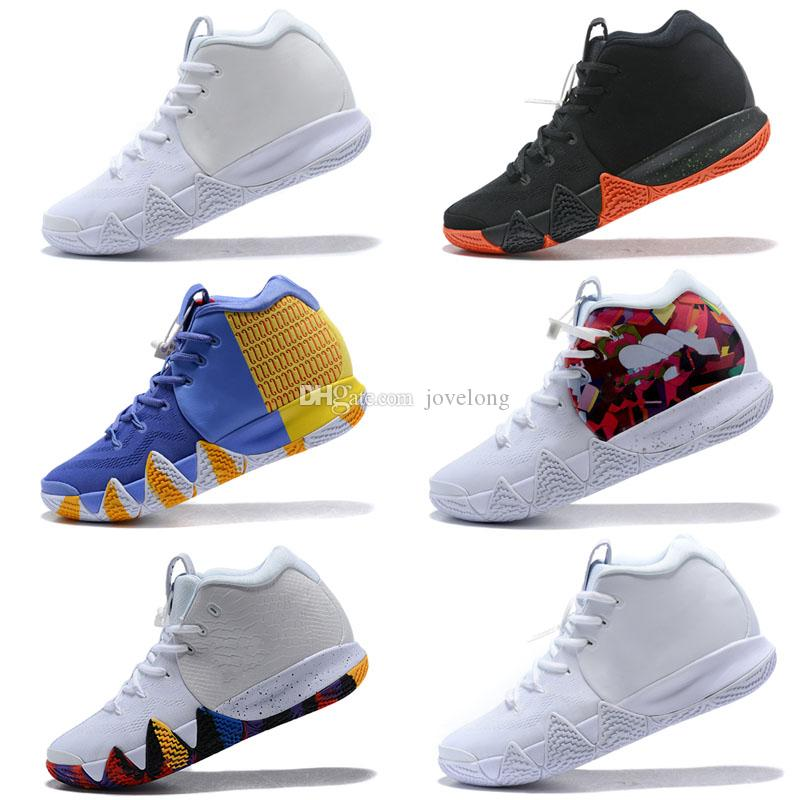 promo code 3ac93 44b30 4s Kyrie IV Mens Kids Basketball Shoes 4 Halloween leopard camo Green  Trainers Irving 2 Drew League Champions Effect BHM Sneakers