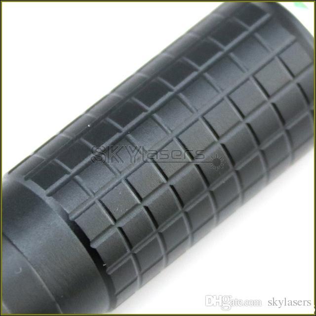 BPX2-A 405nm Negro Foco ajustable Púrpura Puntero láser Láser pluma con soplete visible rayo láser