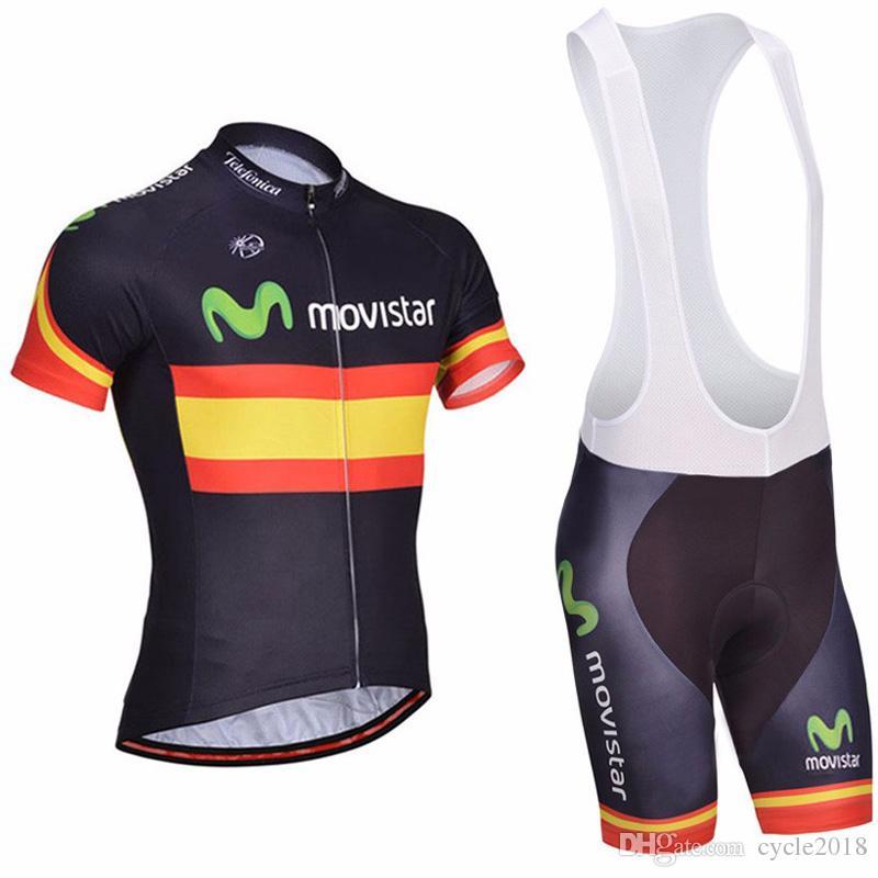 da6e037be Movistar Tour De France Pro Team Cycling Jersey Quick Dry Bicycle Clothing  MTB Bike Bib Shorts Set Sportswear Maillot Ropa Ciclismo Cycling Jersey  Cycling ...