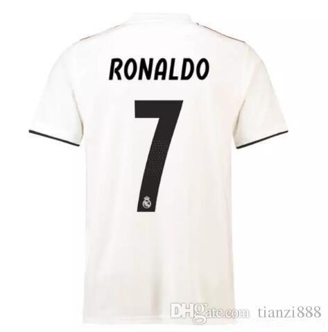 timeless design b8971 9046d 18 19 Real Madrid Soccer Jerseys RONALDO BALE ISCO ASENSIO MODRIC BENZEMA  KROOS Ramos Champions League 13 cup Thai football shirts