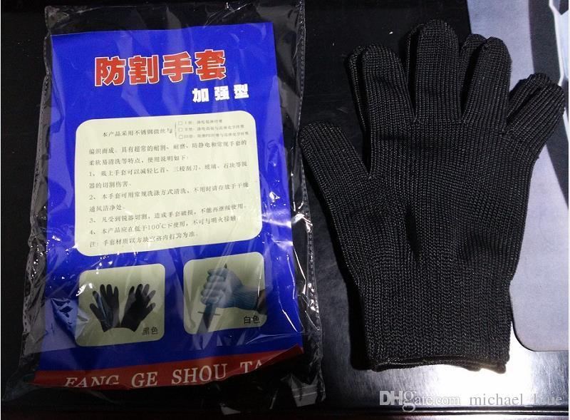 Wholesale Stainless Steel Wire Safety Gloves Works hands protective Anti-Slash Stab Resistance Cut Proof full finger Gloves