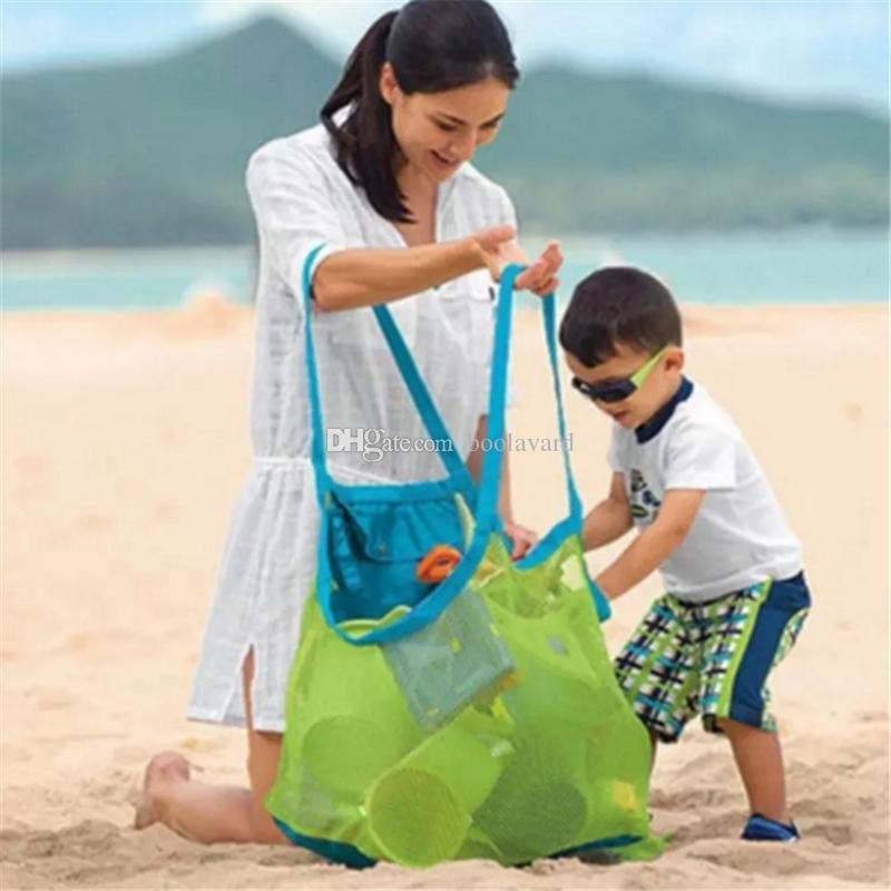 Çocuk Bebek Açık Plaj Sandy Oyuncak Giyim Havlu Toplama Çanta Omuz Çantaları Büyük Uzay Örgü Çanta Çanta Kılıf Yaz aa274-281 2018