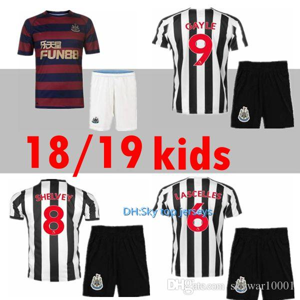 Best Quality Kids Kit 2018 2019 Newcastle United Home Soccer Jersey ... 763fe8f9d4ec2