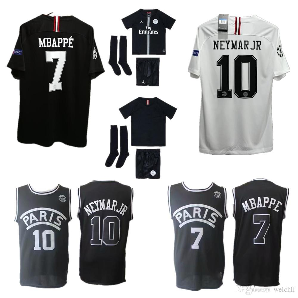 91d79556d60 2019 Perfect Psg Soccer Jersey Paris MBAPPE Saint Germain Jersey  Survetement Football Kit Champions Shirt Men Kids Kit Shorts Basketball  Jerseys From ...