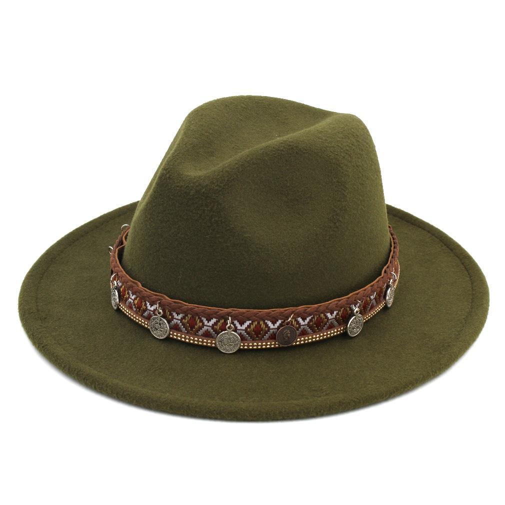 b275c8b748f3c Vintage Unisex Winter Wool Blend Panama Cap Fedora Hat Wide Brim Sombrero  Godfather Cap Church Caps Gangster Jazz Hat Panama Hat Trilby From  Artstyle