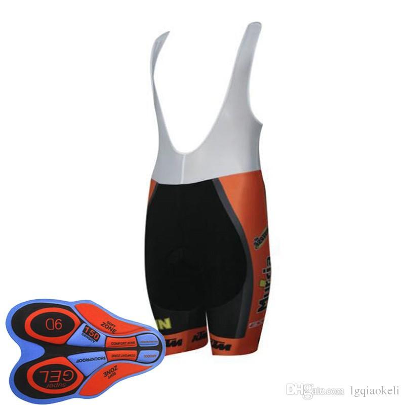 Новый KTM велосипедные шорты Bib 9D гелевая подушка Велосипед Джерси Велоспорт одежда Ropa Ciclismo camisa de ciclismo D1125
