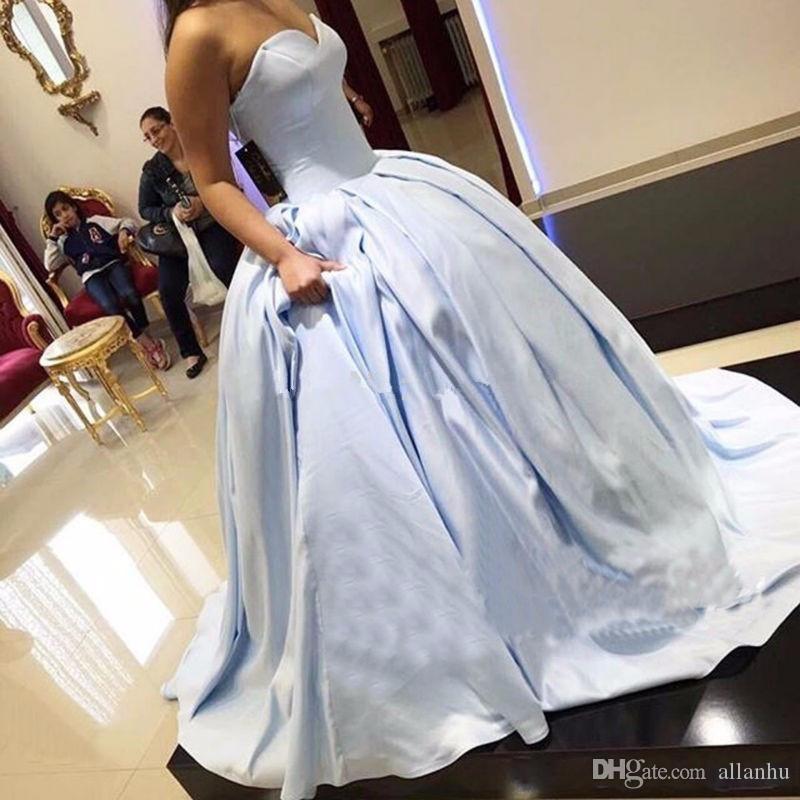 Elegante Simples Gelo Azul Vestido de Baile Quinceanera Vestidos Querida Longos Vestidos de Baile para o Doce 16 Princesa Quinceanera Vestidos Custom Made
