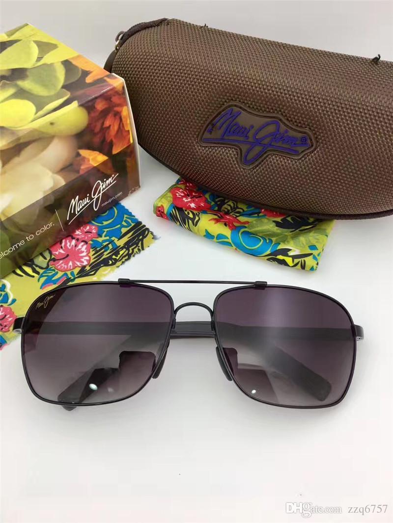 28fcab40a5ff Classic Men Designer Sunglasses Mauijim MJ-326 Full Frame Metal ...
