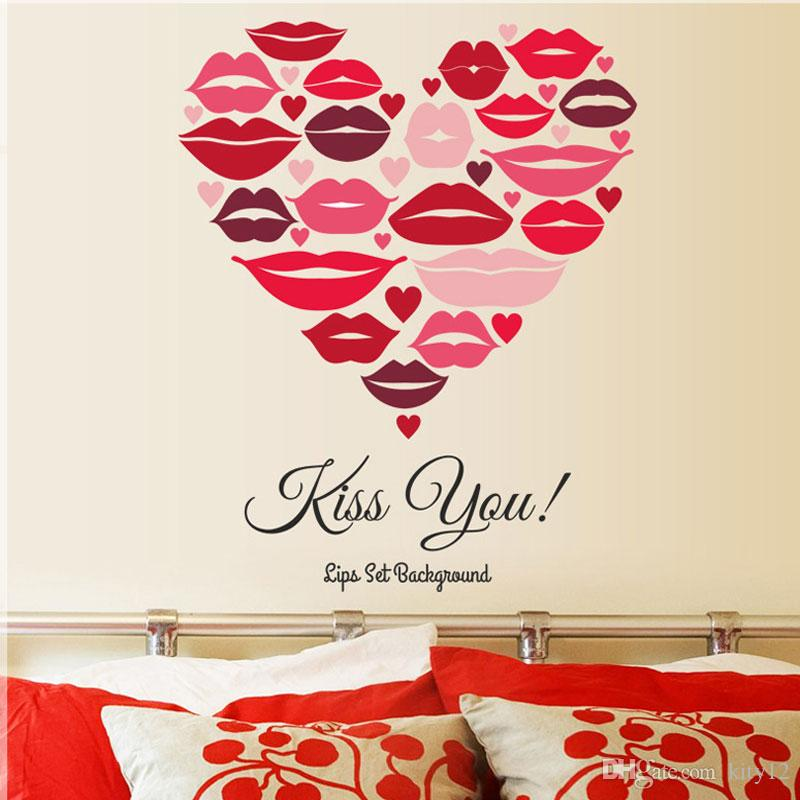 51aef08be2f 3D Sexy Girl Lip Wall Stickers Kiss You Decal Creative Living Room Entrance  TV Backdrop Home Decor Affordable Wall Decals Airplane Wall Decals From  Kity12