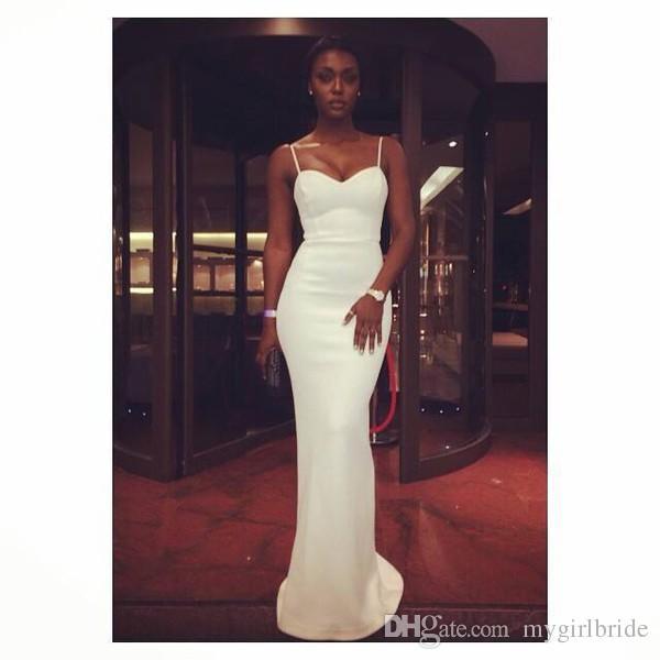 Großhandel 2018 Neue Elegante Afrikanische Weiße Prom Kleider ...
