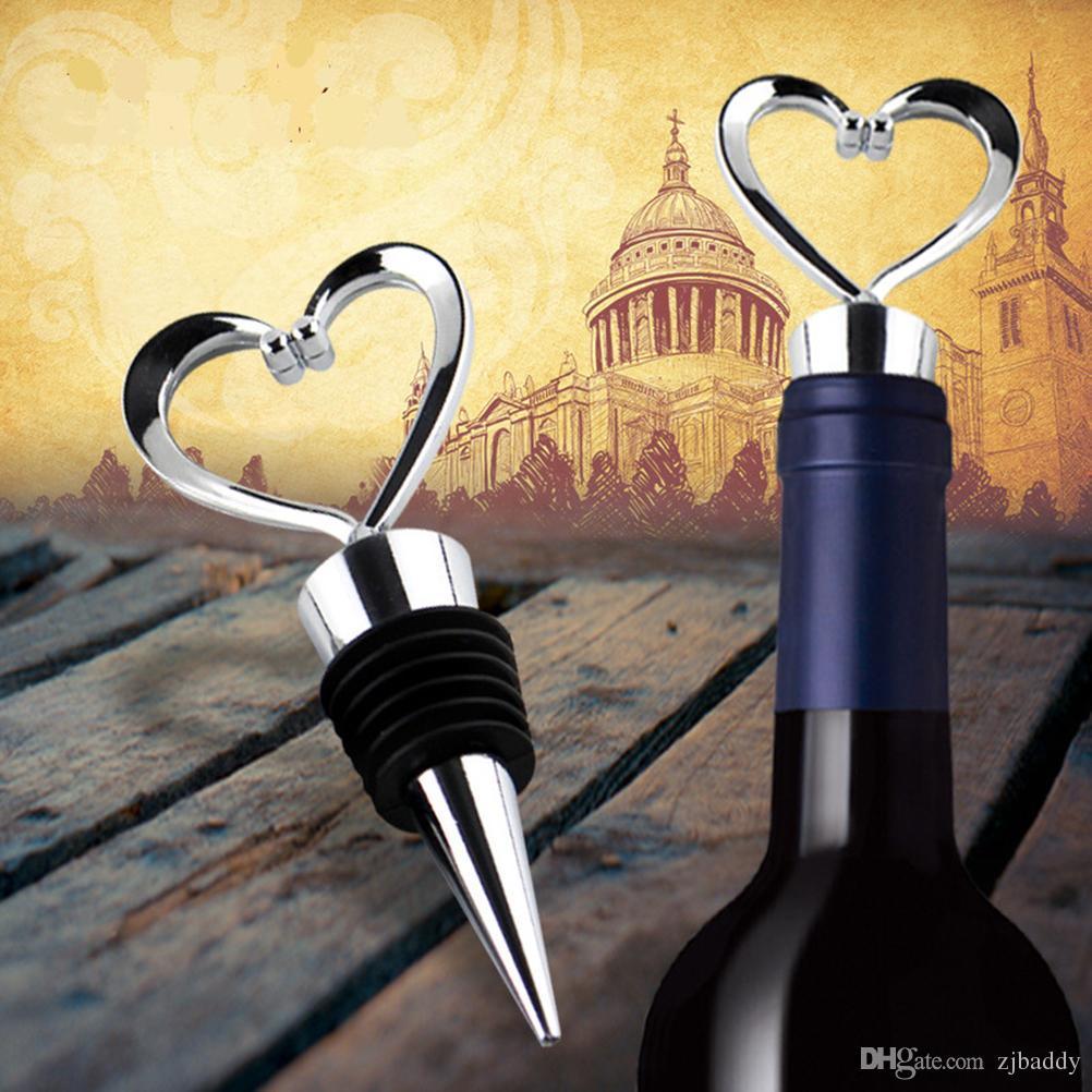 Regali di ritorno del partito Coppie del cuore Grande combinazione di apribottiglie vino e tappo Imposta doni nuziale doccia  T all'ingrosso
