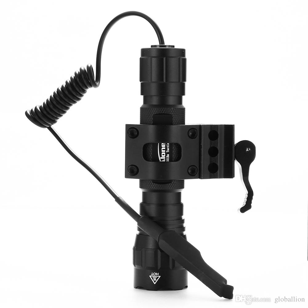 AloneFire 501Bs CREE XM-L L2 Light LED Tactical Flashlight Torch Pressure Switch Mount Hunting Light Lamp for 18650 battery