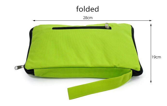 Foldable Shopping Trolley Wheel lightweight Folding Bag Traval Cart Lage Green