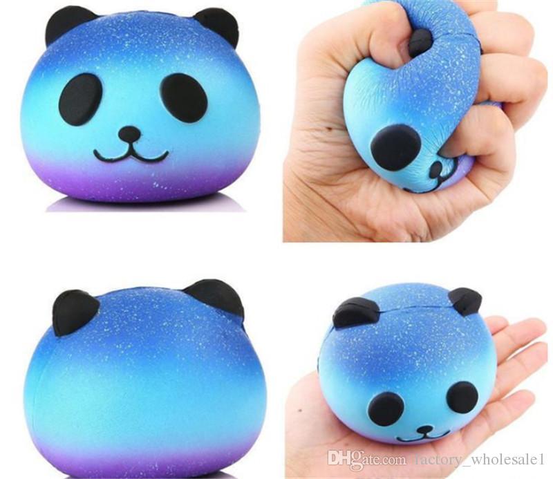 اسفنجي غالاكسي الباندا الأزرق سوبر بطيئة ارتفاع جامبو بو اسفنجي الضغط الهاتف حزام الاطفال متعة لعبة هدية الضغط لعبة