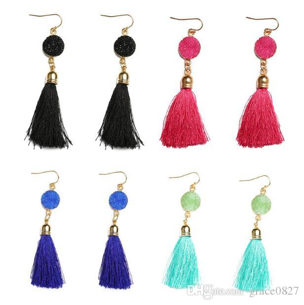 Best Quality New Fashion Exaggerate Large Tassel Earrings Joint Dangling Earring Women Elegant Party Jewelry Lover Gift At Dangle