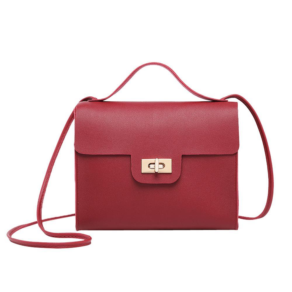 04cc30b80b1 Women's Leather Shoulder Bag 2019 Simple Turn Lock Fashion Coin Purse Phone  Bag Tote And Lady Accessories Gift Portfel A8 Coin Purses Cheap Coin Purses  ...
