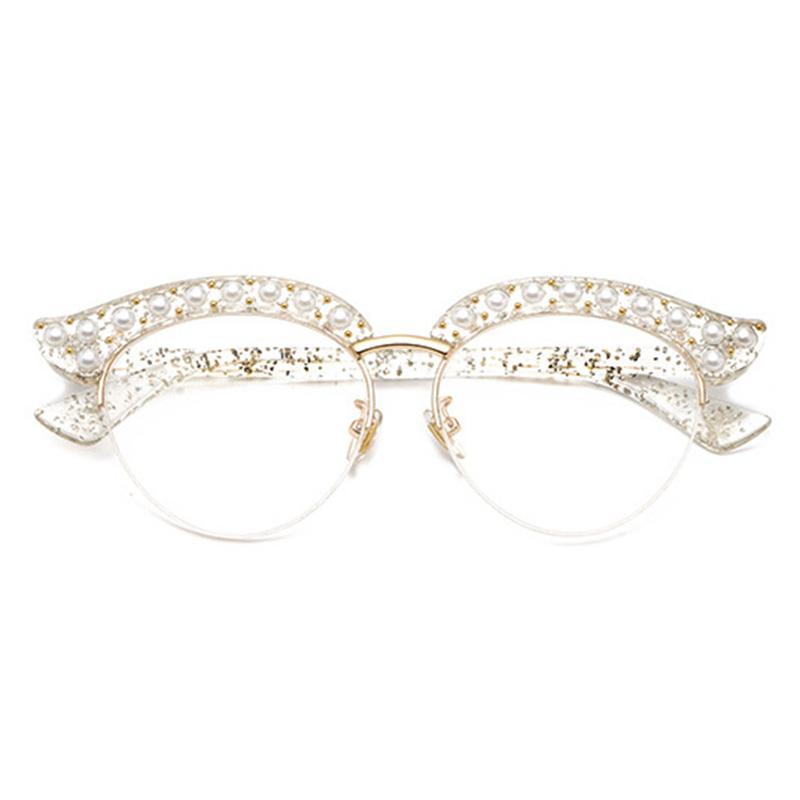 Großhandel Cubojue Cat Eye Perle Frauen Gläser Klare Linse ...