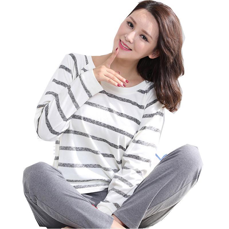 2018 2016 Autumn Striped Pyjamas Cotton Couple Pajamas Set Women Sleepwear  Pajama Sets Pijamas Mujer Lover Pyjamas Homewear Clothing From Bigbangtop 732932370