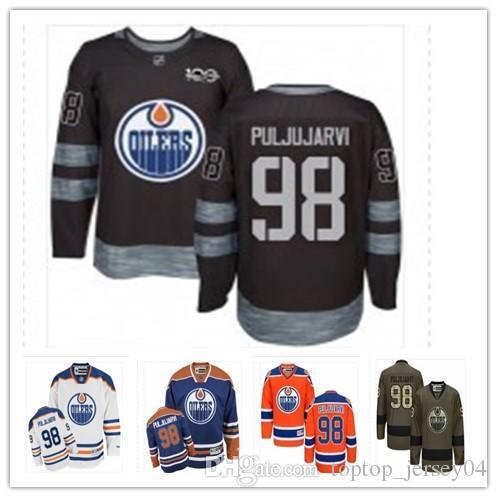 2019 2018 Can Edmonton Oilers Jerseys  98 Jesse Puljujarvi Jersey Men  WOMEN YOUTH Men S Baseball Jersey Majestic Stitched Professional  Sportswear From ... f3a132947